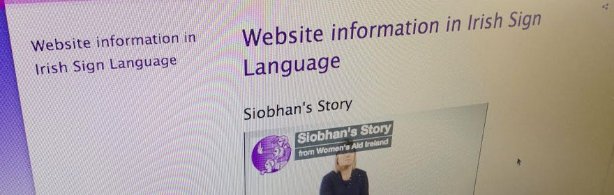 Information in Irish Sign Language