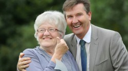Daniel O'Donnell presents Maura Buckley with 'Heroes' award